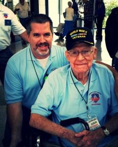 Roger and Grandpa - ABIA pre-departure