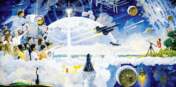 Spaceflight mural - Robert McCall