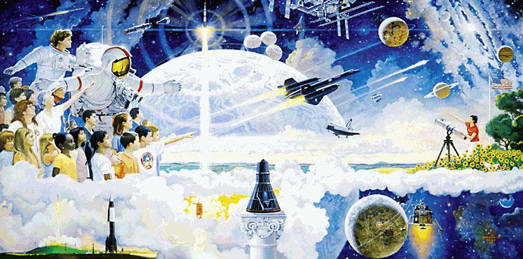 Spaceflight mural - Robert McCall