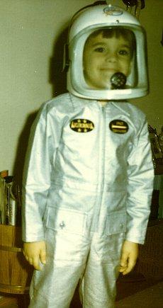 Roger as an astronaut - Christmas 1968