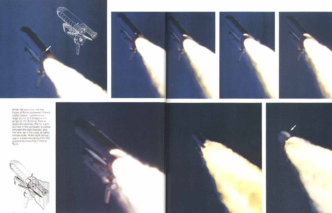 STS-51L right SRB flare images