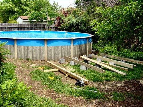 Building the perfect deck balettiedotcom for Above ground pool decks canada