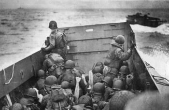 Approaching Normandy on D-Day, June 6, 1944