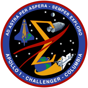 Apollo 1, Challenger, Columbia memorial emblem