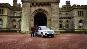 Roger and Andrew with Range Rover at Eastnor Castle (2)