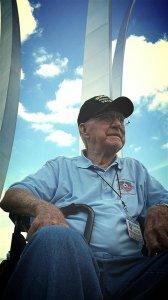 Grandpa at the USAF Memorial outside the Pentagon
