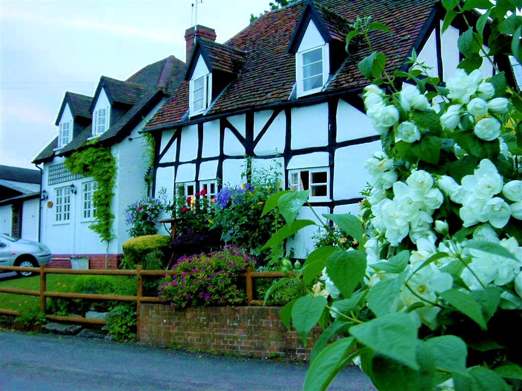 Mill Cottage - with flowers