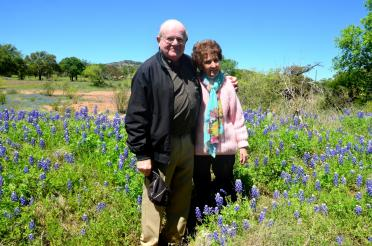 Paul and Geri - Willow Loop bluebonnets