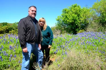 Roger and Kathy - Willow Loop bluebonnets