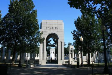 Approaching the Pacific Column entrance
