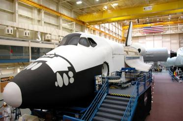 JSC - Building 9 Shuttle training mockup