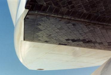 Columbia - body flap and SSME cover