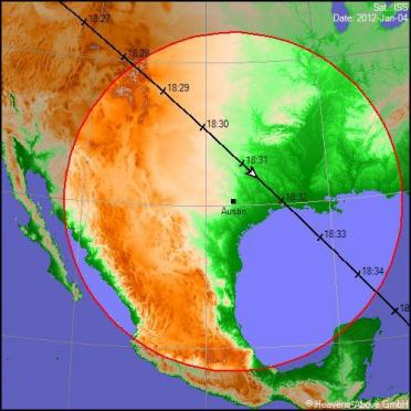 4jan12-iss-sighting-austin-groundtrack