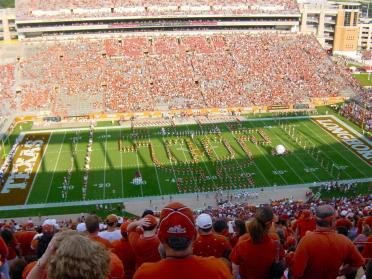 Longhorn Band forms the UT