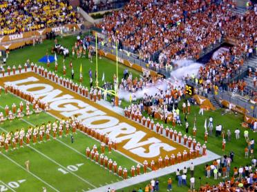 Horns enter the field for the Mizzou game