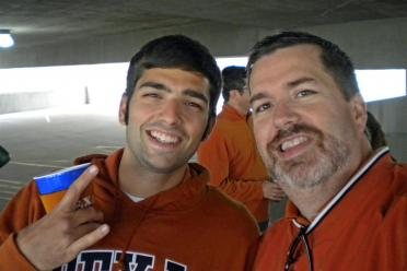 Andrew and Dad - pregame tailgate