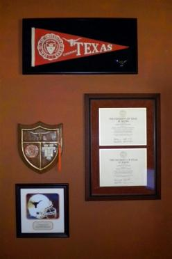 My Longhorn wall of honor