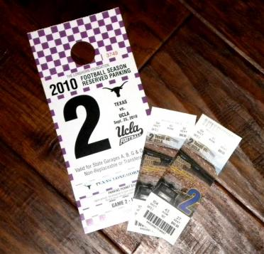 Tickets and parking pass - UCLA game