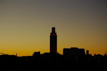 Tower - silhouette at sunset