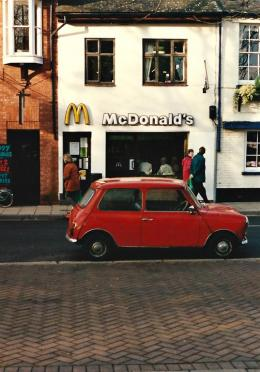 Iconic Mickey D's and Mini Cooper