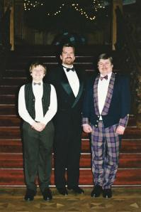 Skibo stairs - Mark, Roger, and John