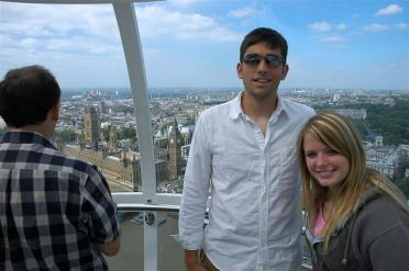 Andrew and Mel atop the London Eye