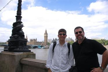 Andrew and Dad on the Thames