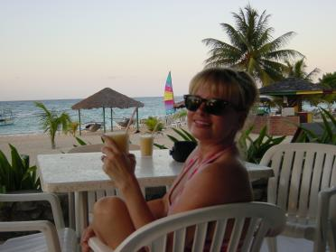 Banana daiquiri and the beach... and Kathy