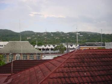 Building tops in Ocho Rios