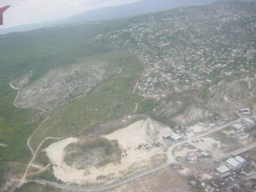 Jamaican scenery from the air