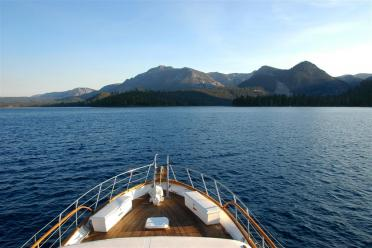 Approaching Emerald Bay