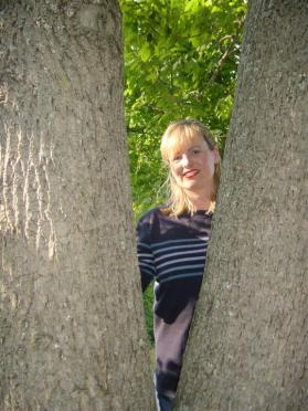 Kathy in the trees